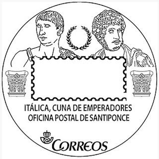 Matasellos turístico de la Oficina Postal de Santiponce - 2017