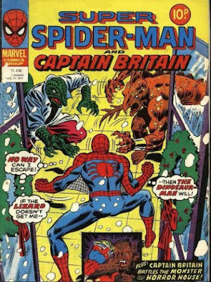 Super Spider-Man and Captain Britain #238, the Lizard and Stegron