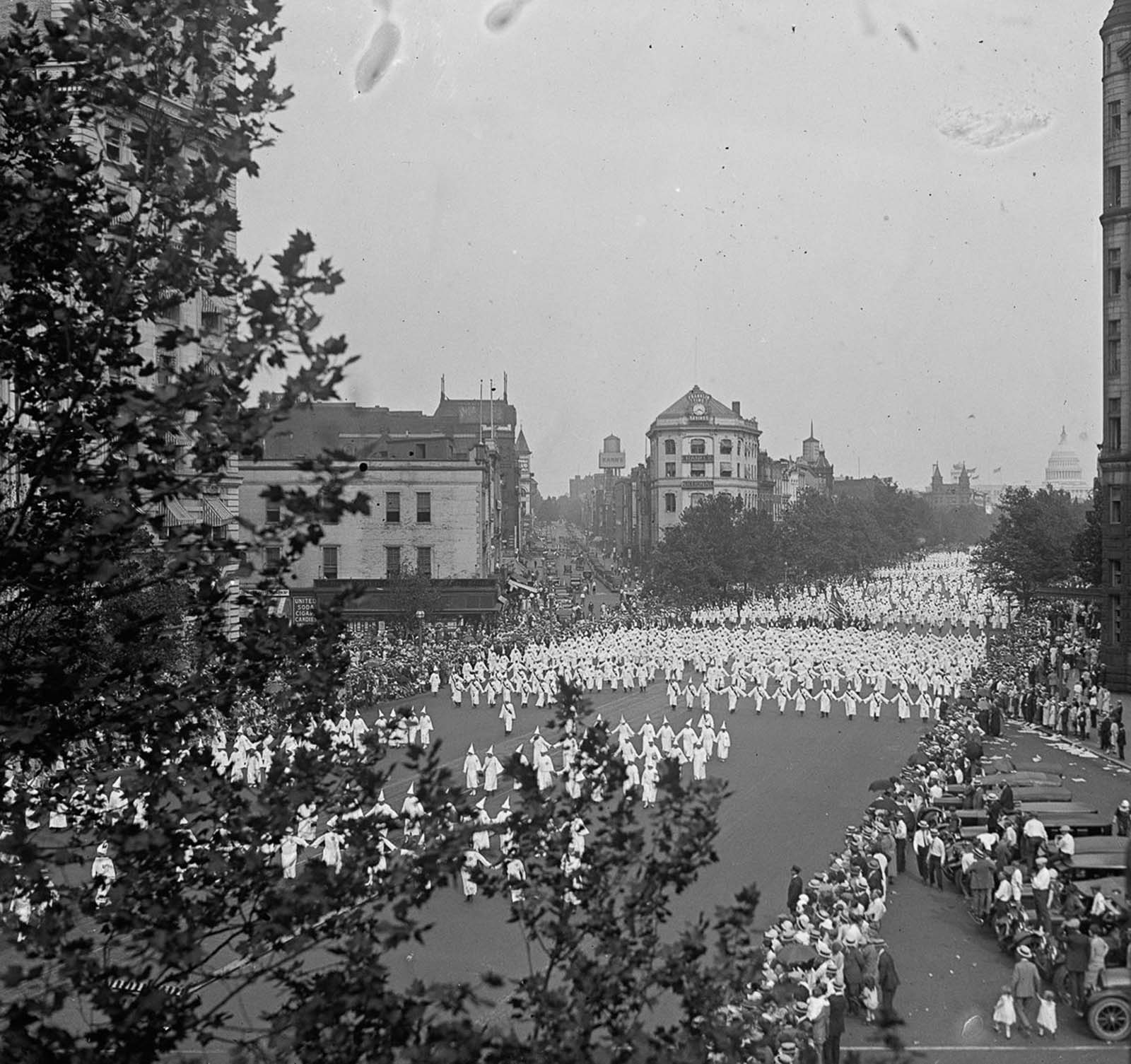 "The so-called ""konklave"" drew upwards of 50,000 Klansmen, who marched through the city in a chilling display."