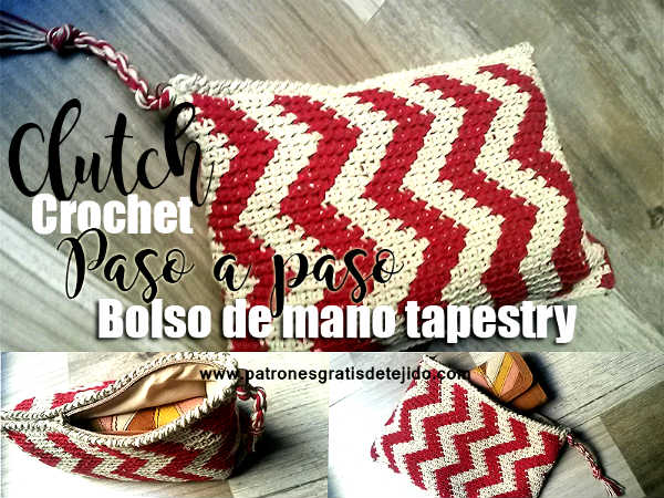 como-tejer-clutch-chevron