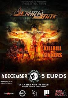 AlphaState, KillBill Sinners, Aethersin @ Silver Dollar