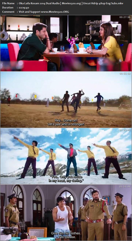 Oka Laila Kosam 2014 Hindi Dubbed 400MB Download HDRip 480p at movies500.info