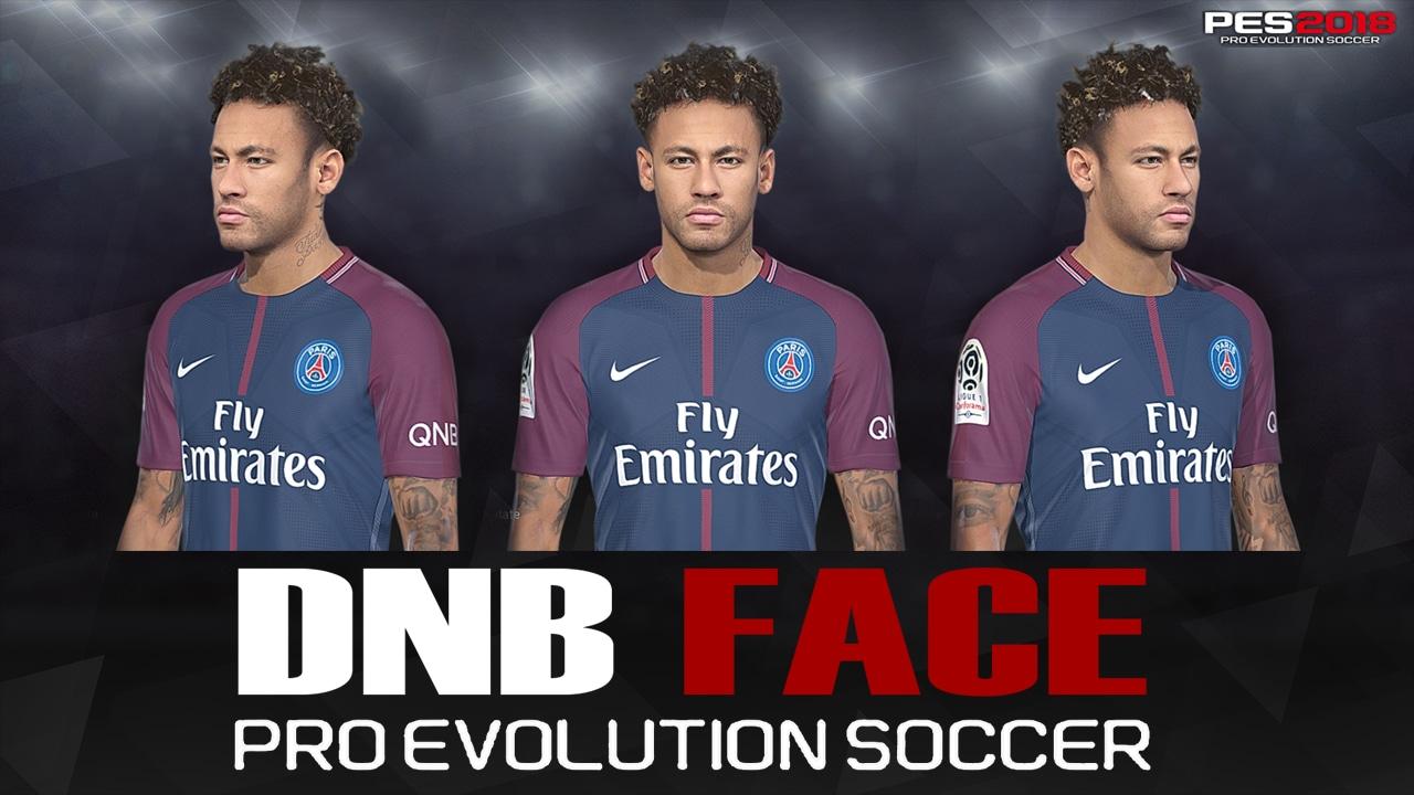 PES 2018 Neymar Face by DNB Face