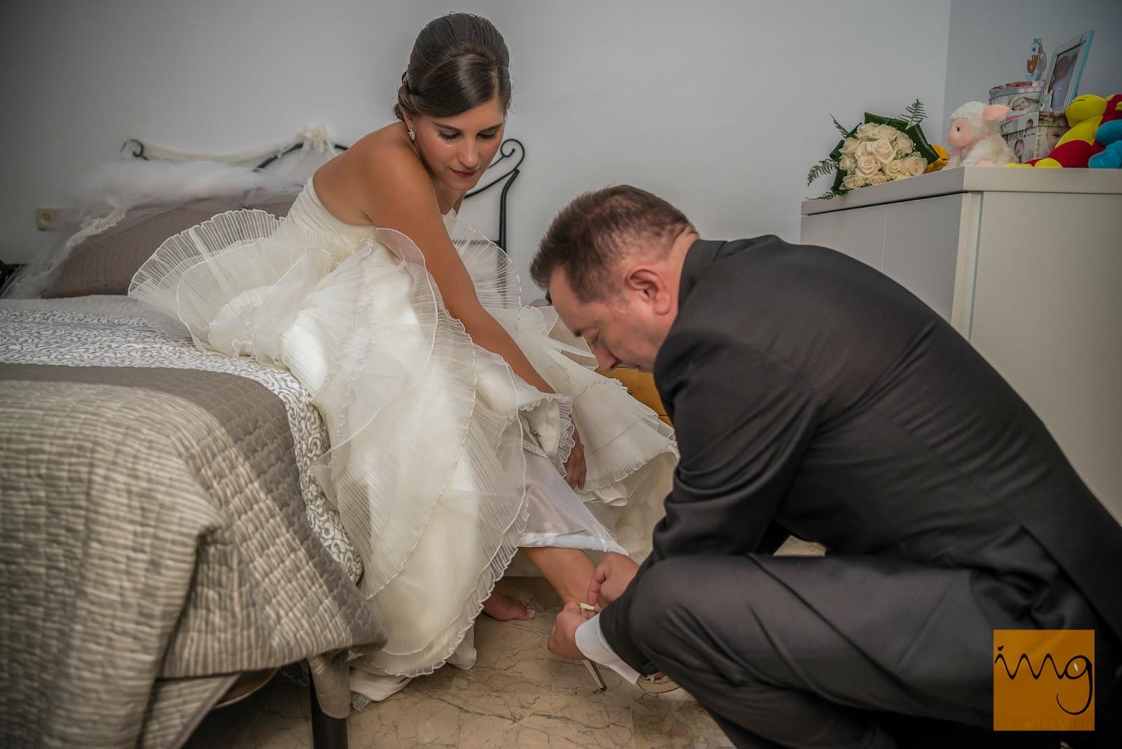 Fotografía de los preparativos de la novia