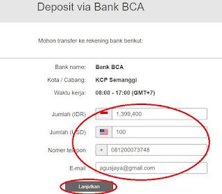 Apakah insta forex bisa depo pakai bank lokal