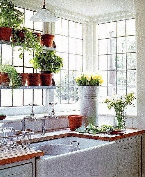 Garden Kitchen Windows Bay Window Above Kitchen Sink: Méchant Studio Blog: Some Sun In The Kitchen