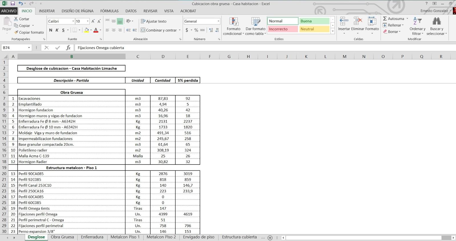Proyectos cubicaciones construcci n presupuestos - Como hacer presupuesto de obra ...