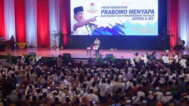 Didukung Ribuan Purnawirawan TNI-Polri DIY, Prabowo: Kekuatan Bertambah