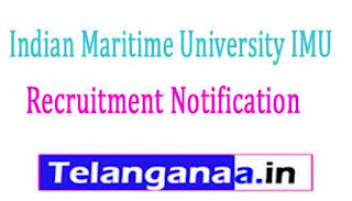 Indian Maritime University IMU Recruitment Notification 2017
