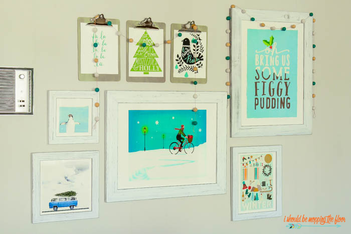 Holiday Gallery Wall Ideas