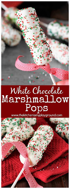 Christmas White Chocolate Marshmallow Pops picture