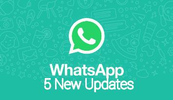 5 New features in WhatsApp