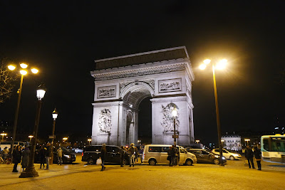 Arc de Triomphe night view