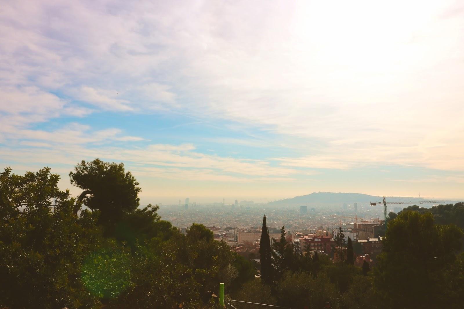 widok na barcelonę