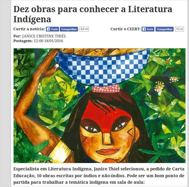 Dez obras para conhecer a Literatura Indígena