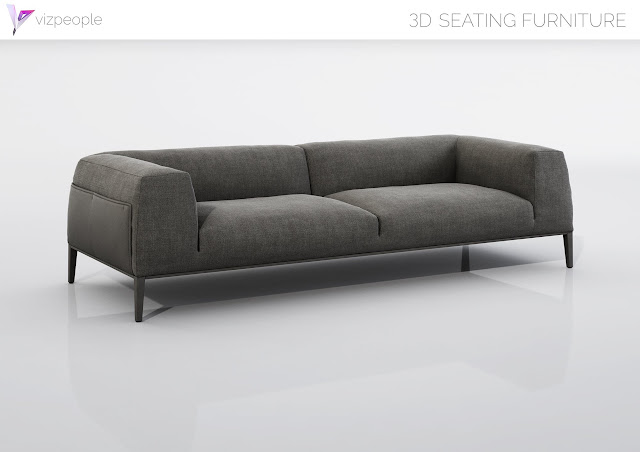[3D Model Free] 23 Seating Furniture set 3