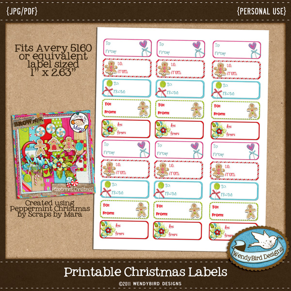 Avery 5160 Christmas Labels Template