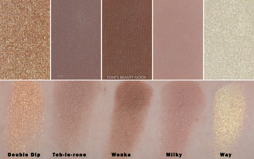makeup revolution naked chocolate eyeshadow palette swatches
