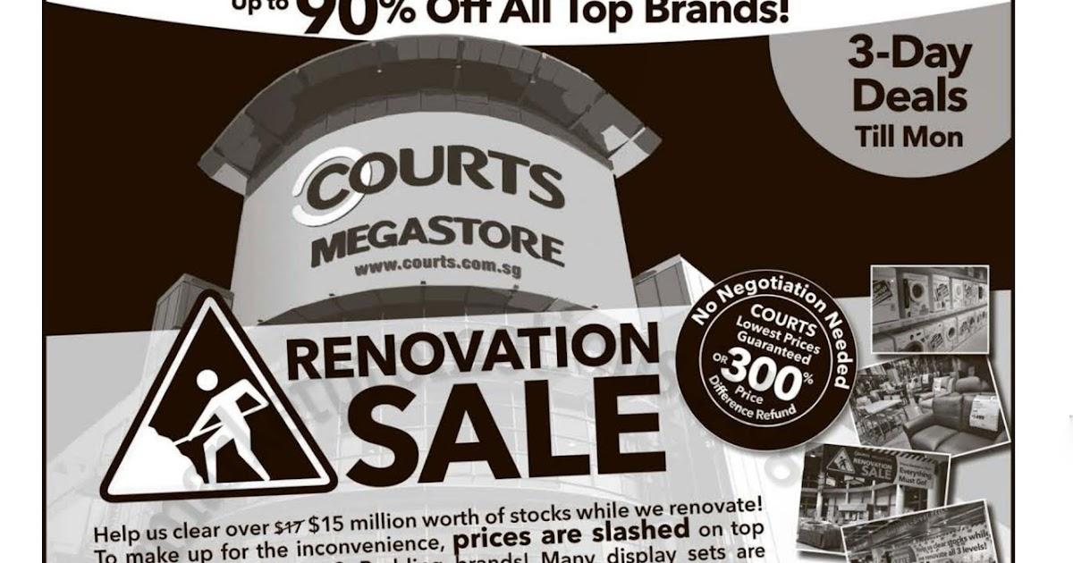 Courts Megastore Renovation Sale 26 28 August 2017