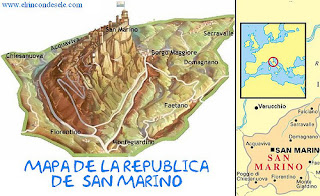 Mapa de San Marino.