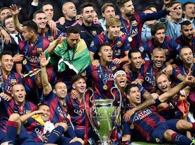 Barcelona, Daftar 5 besar klub yang menang liga champions