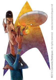 Caricatura de Mr Spock