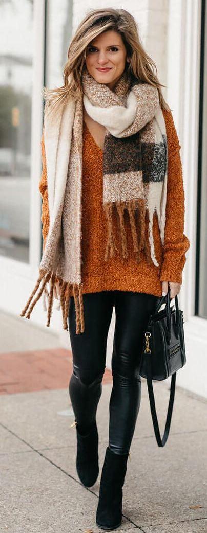 Leggings Outfit Ideas for Winter season