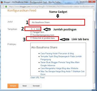 Trik Pasang Widget Postingan Terbaru di Blogspot