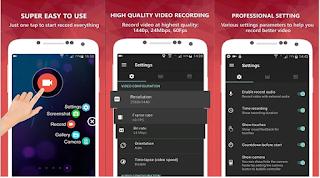 Software screen recorder terbaik untuk Android untuk menghasilkan Perekam Layar Terbaik di android