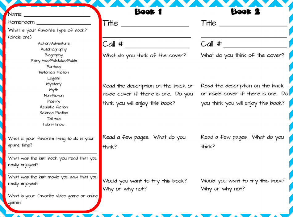 Book Cover Printable Quiz ~ The book bug fiction tasting
