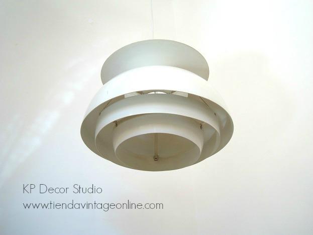 lamparas danesas de techo vintage, aluminio esmaltado, jakobsson