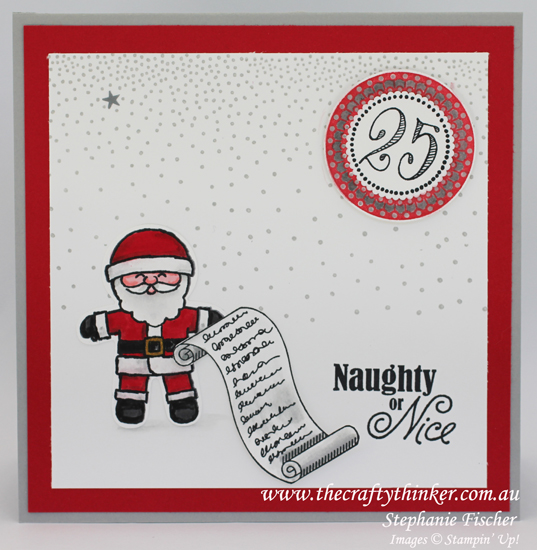 Stampin Up, #thecraftythinker, Christmas Card, Xmas, Cookie Cutter Christmas, Merriest Wishes, Stampin Up Australia Demonstrator