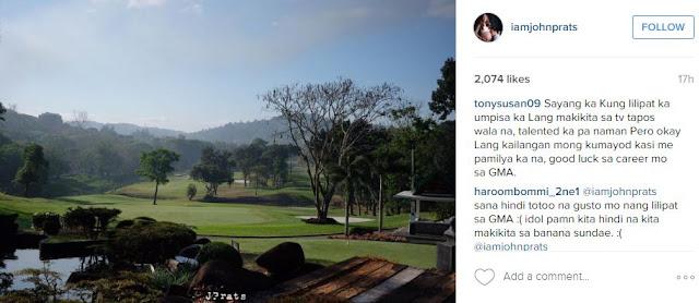 John Prats Instagram post