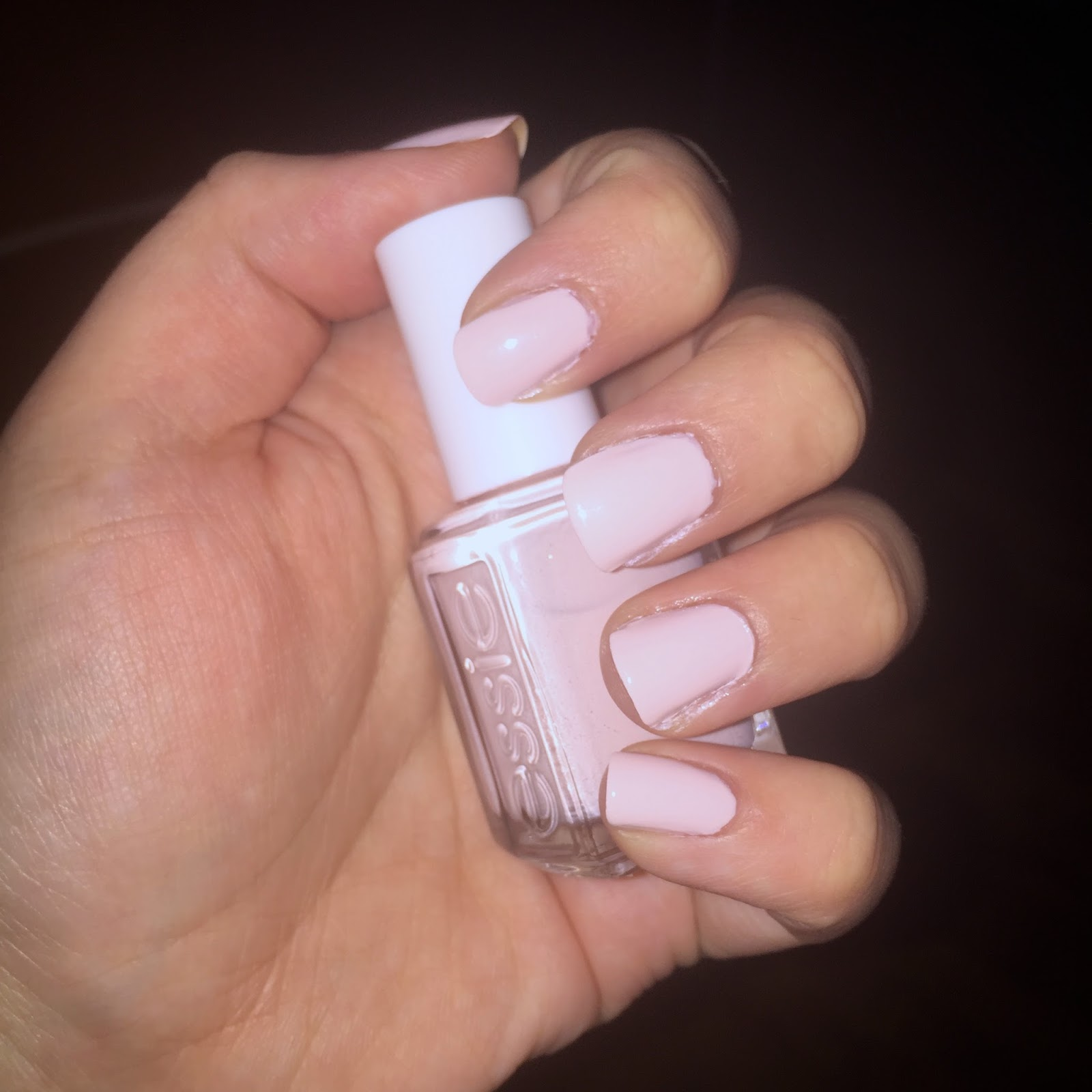 NOTD essie romper room the best pale pink nail polish
