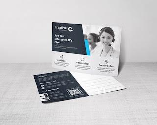 contoh postcard perusahaan modern