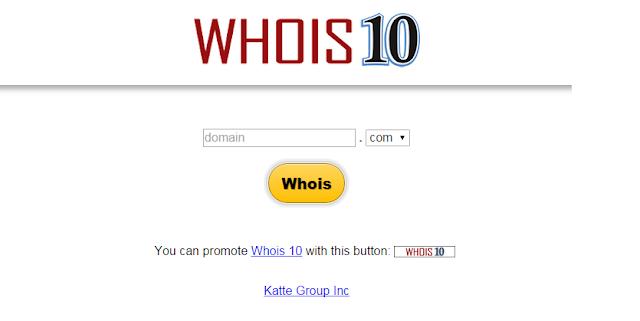 como saber a quien pertenece una web