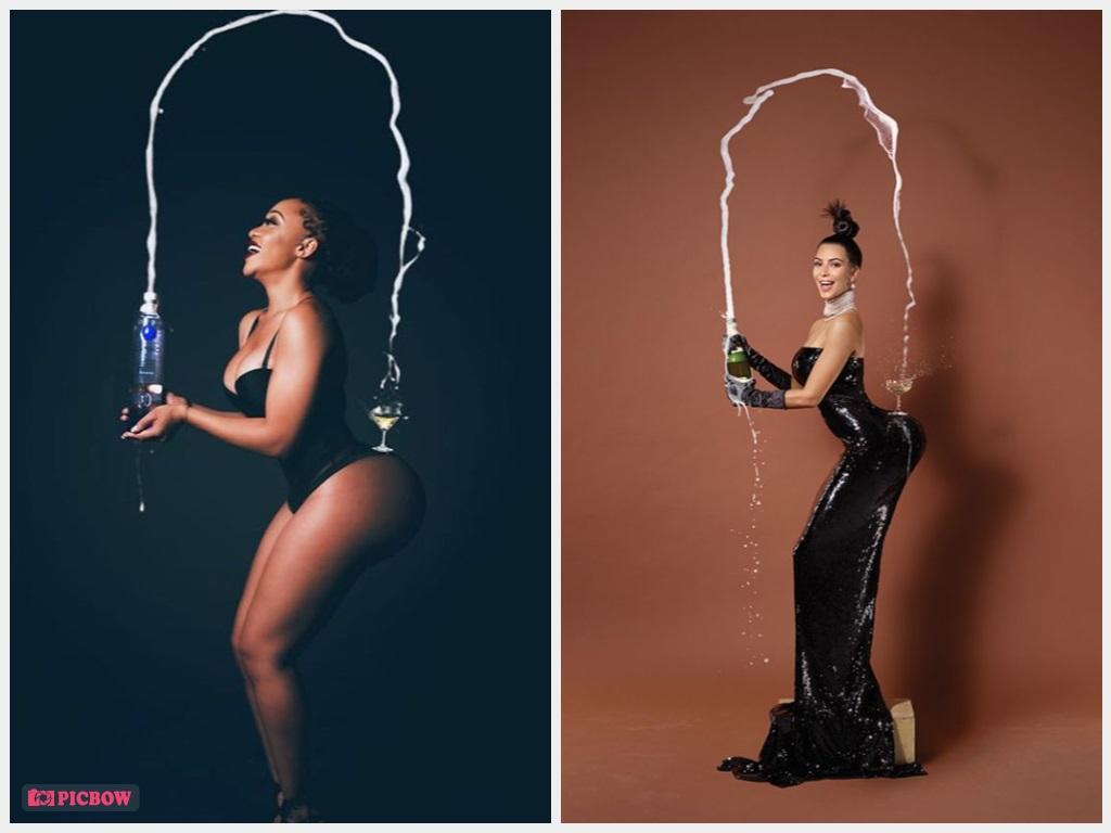 Thando Thabethe Photoshopped Booty Split The Internet Just As Kim