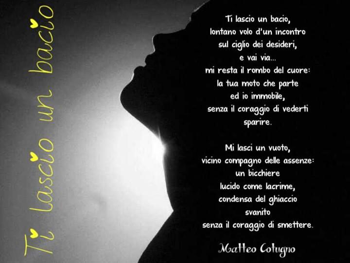 Favoloso Poesie di Matteo Cotugno: Ti lascio un bacio TV79