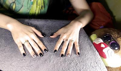 fabulous black acrylic nails from lazada