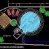 مخطط مسبح منزلي دائري اتوكاد dwg swimming pool