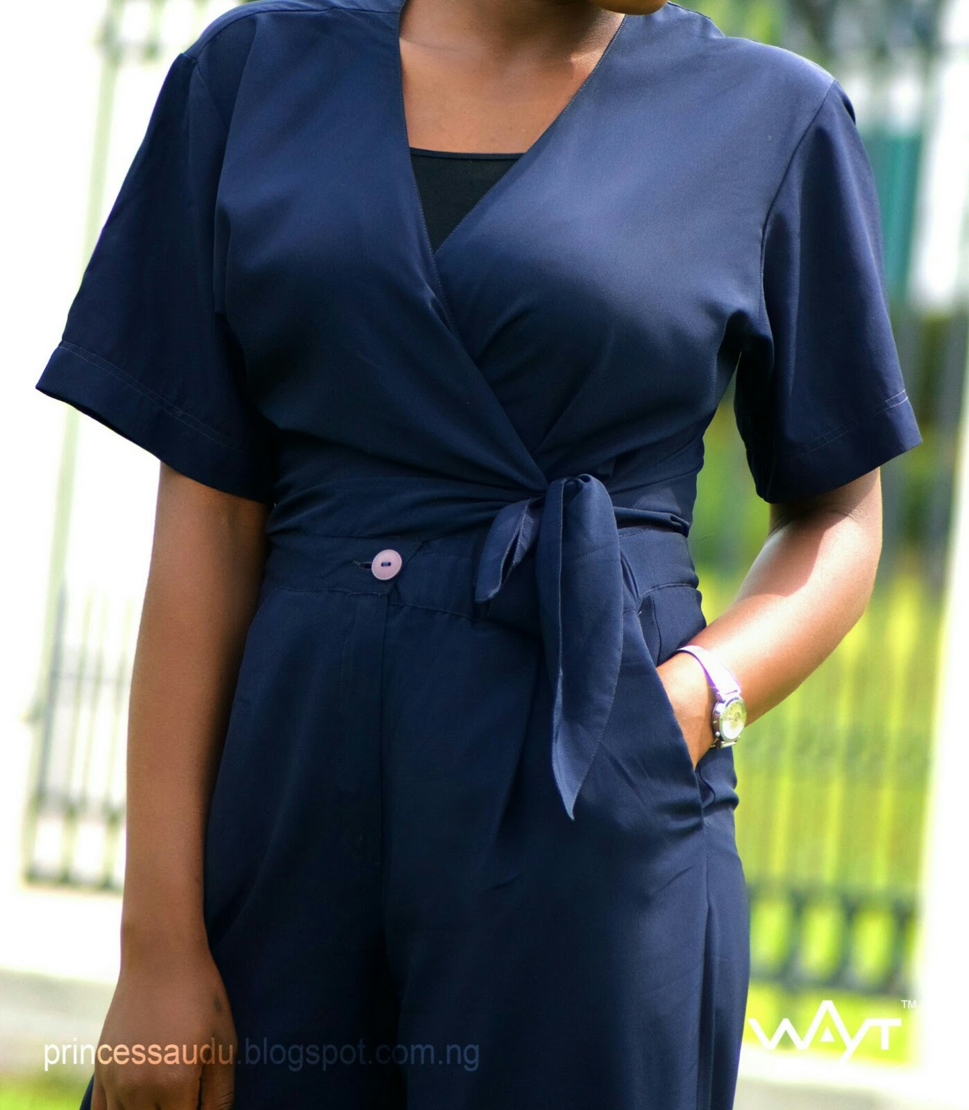 wrap jumpsuit, princess audu