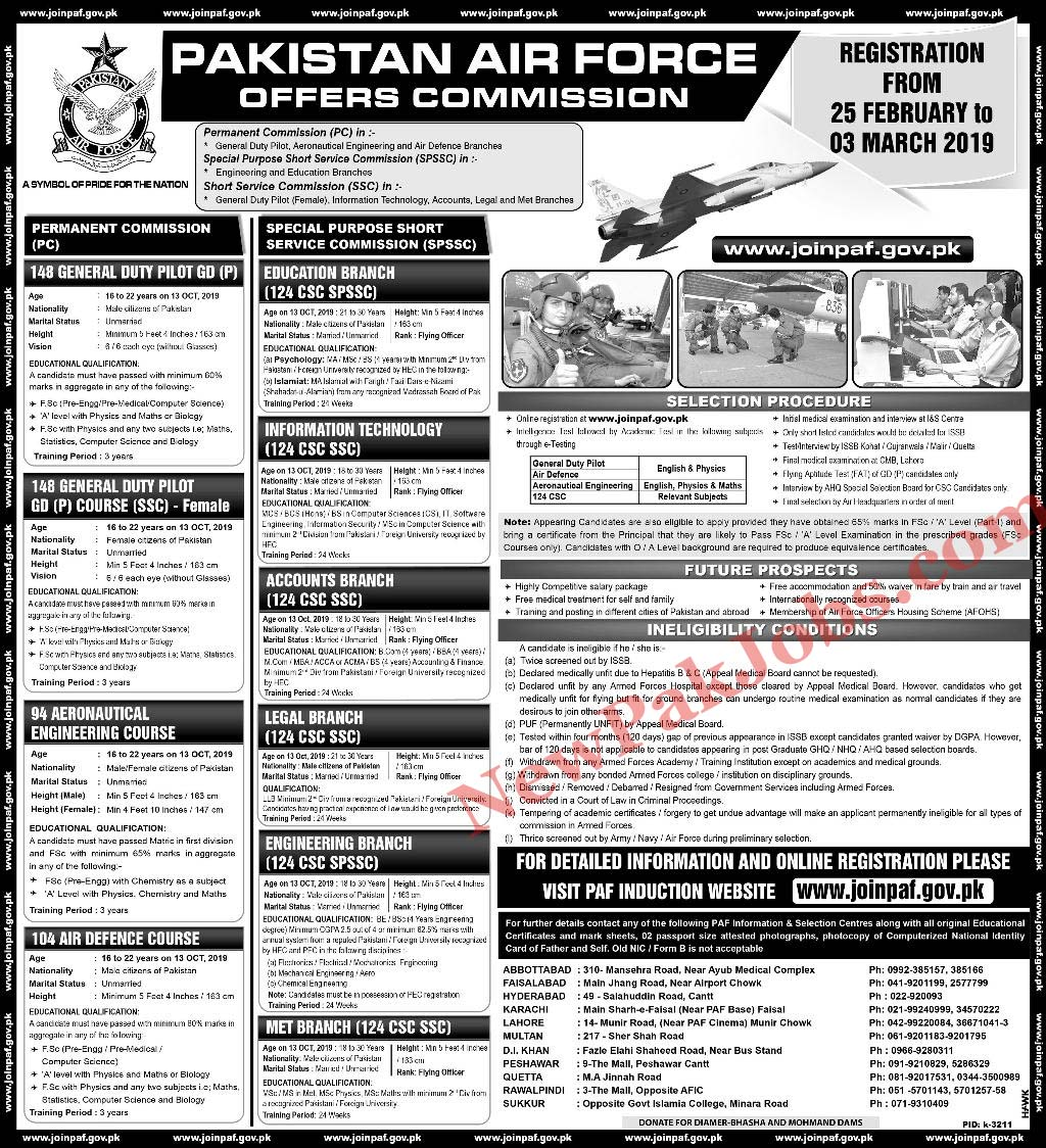 PAF Jobs 2019 - joinpaf.gov.pk