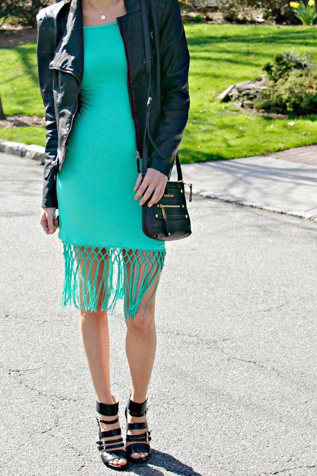 ami clubwear jade fringe dress