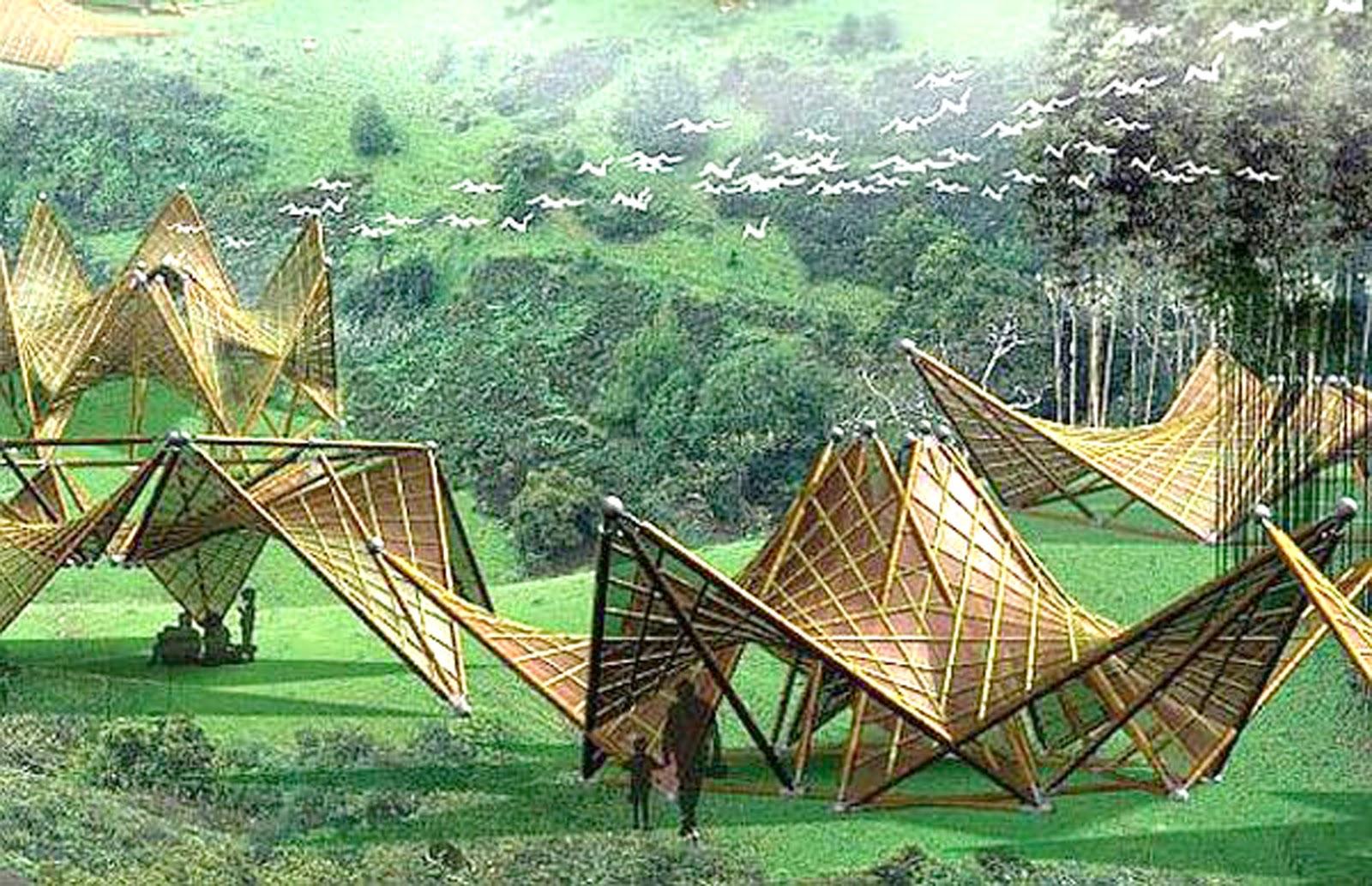 The Origami Bamboo House Design Bamboos Design
