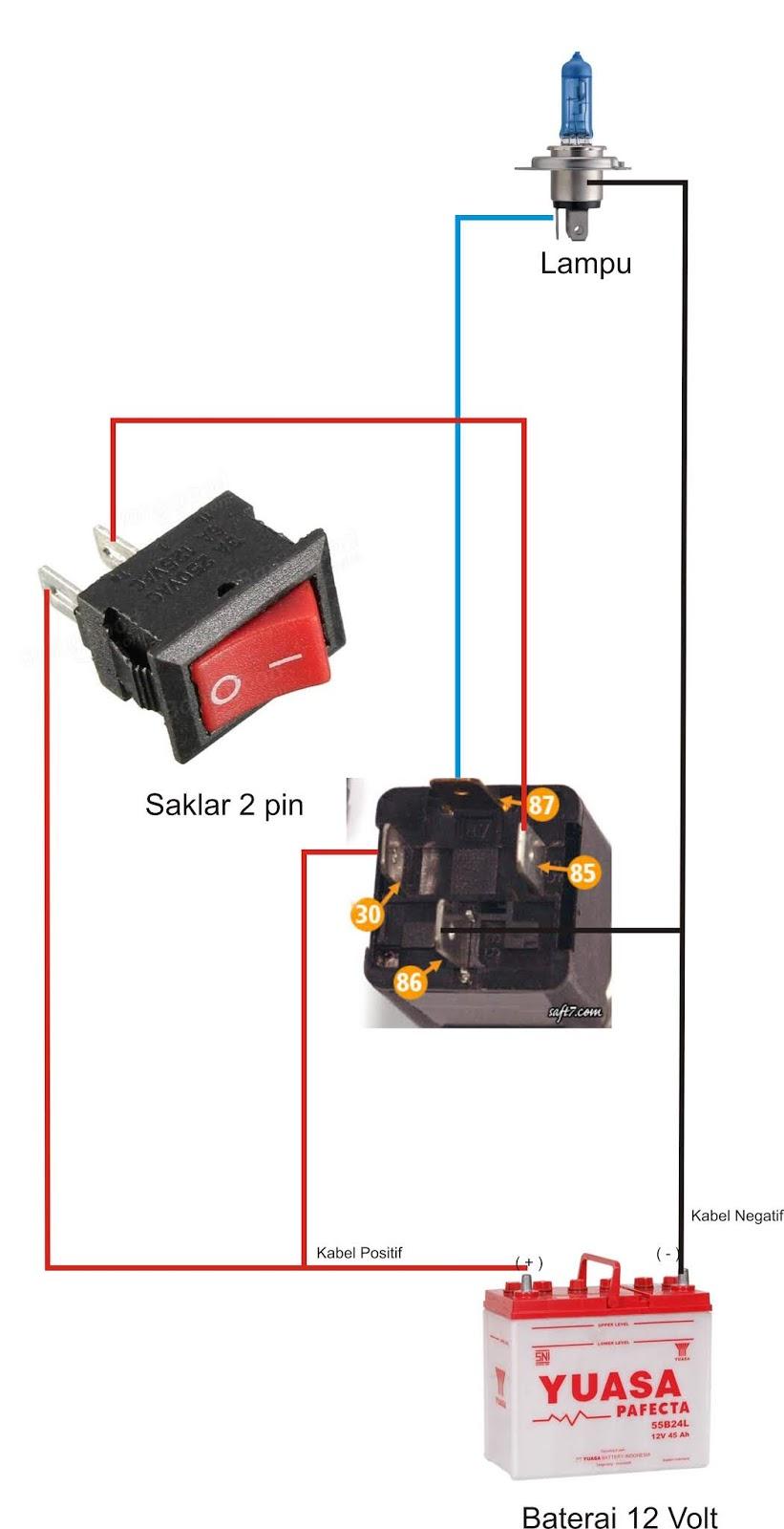 Cara Mudah Merakit Relay 4 Kaki Jenis Normaly Open Lks Otomotif