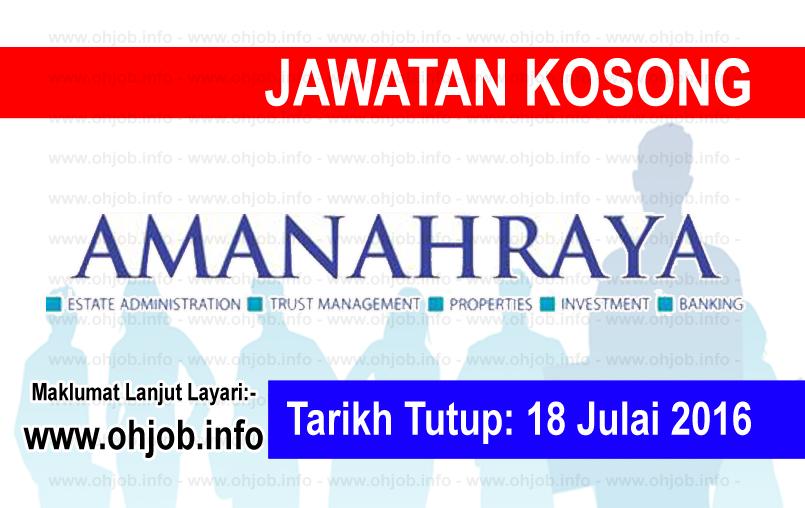 Jawatan Kerja Kosong Amanah Raya Berhad (ARB) logo www.ohjob.info julai 2016