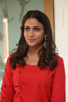 Actress Lavanya Tripathi Latest Pos in Red Dress at Radha Movie Success Meet .COM 0153.JPG