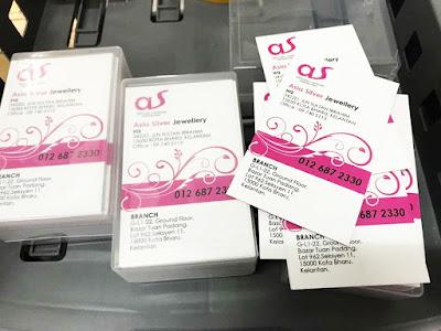 Kad Bisnes Murah RM55 Untuk 3 Kotak Percuma Pos Percuma Design
