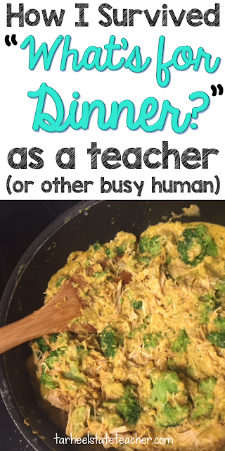 "Are you a busy teacher asking ""What's for dinner?"" Then you're going to love the easy to implement ideas at this blog post! Real, whole foods do not have to be a dream any more. Get supper on the table with very little prep work or time. These low prep meals are sure to please the busiest teacher or mom. Whether your family is big on meat, strictly vegetarian, or any other health style - you'll find recipes and ideas here that are sure to fit your needs AND your budget! Click through for details"