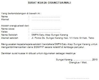 format surat kuasa orang tua wali pencairan dana bsm pip secara kolektif mochamad fakhrudin